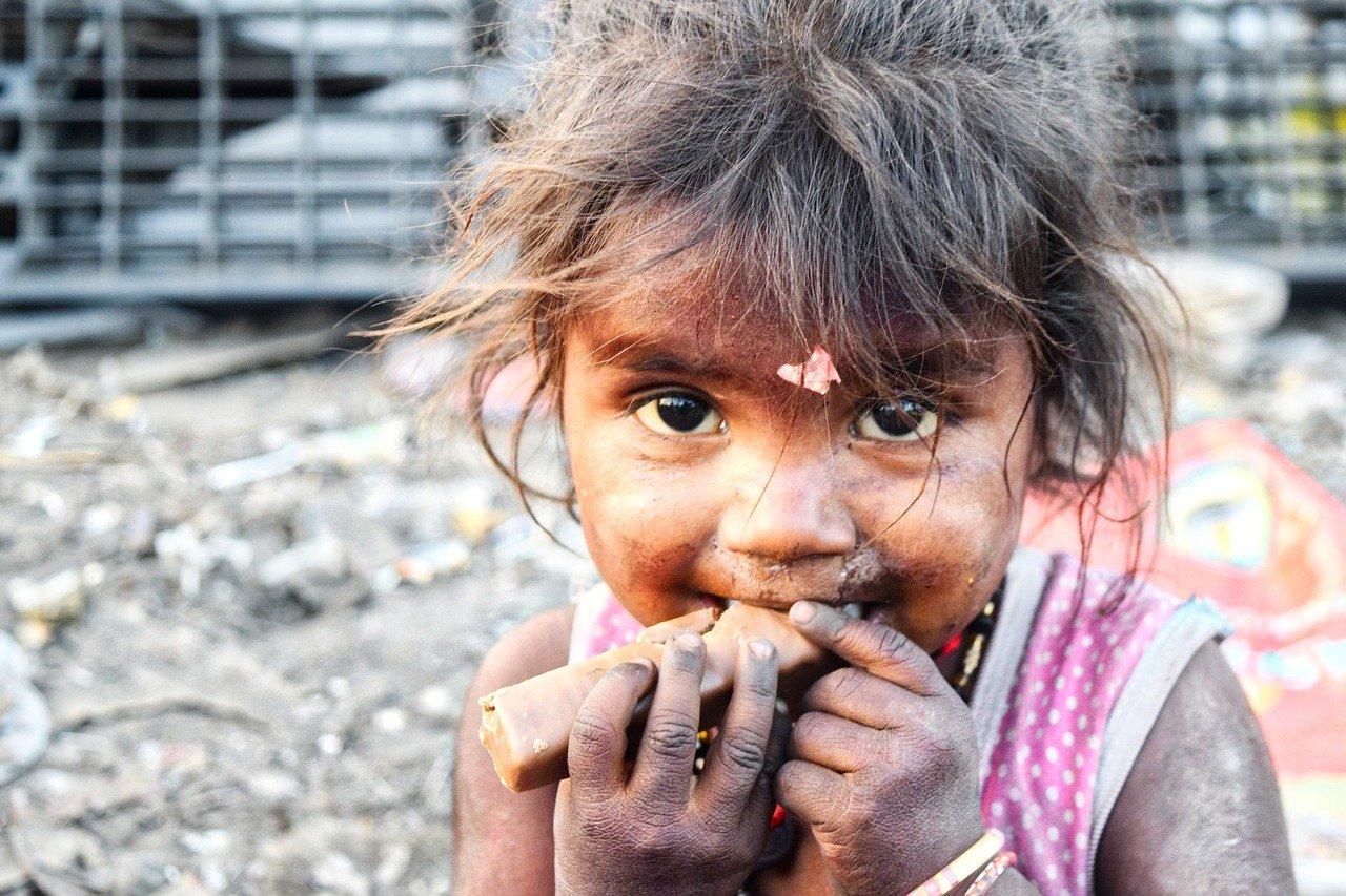 slums, india, girl